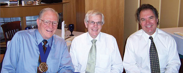 Gordon Copeland (middle), Scott Workman, and friend
